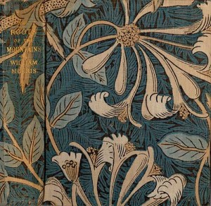 Morris's <i>The Roots of the Mountain</i> bound in Morris's Honeysuckle fabric