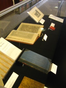 Display of rare books