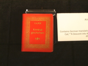 Miniature book: Kriminal-geschichten, a German translation of short stories by Edgar Allen Poe