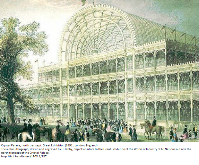 Crystal Palace, North Transept, London 1851