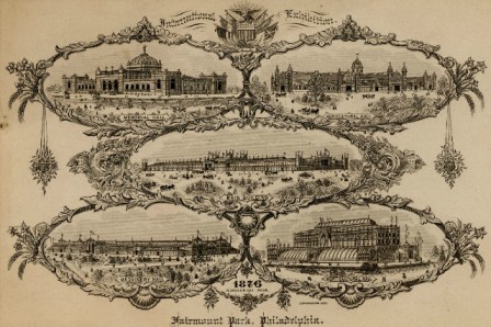 Centennial Exhibition (1876 : Philadelphia, Pa.). R. Magee & Son (Philadelphia, Pa.). Reproductions, Cards; 10.2 x 14.1 cm.