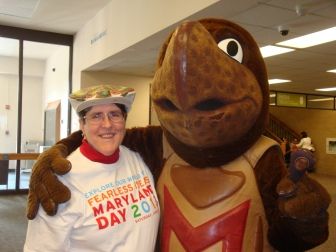 Testudo and Anne Turkos