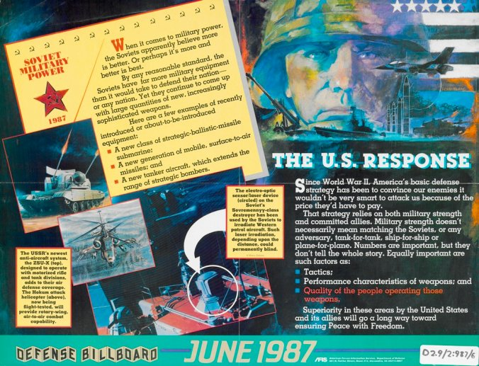 Defense billboard poster for June, 1987