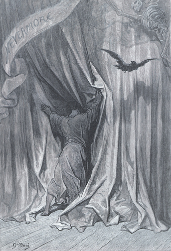 Edgar Allan Poe. 'The Raven.' Illustrated by Gustave Doré. New York: Harper & Brothers, 1884.