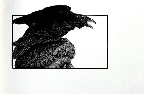 Edgar Allan Poe. 'The Raven' Easthampton, Mass.: Cheloniidae Press, 1986.