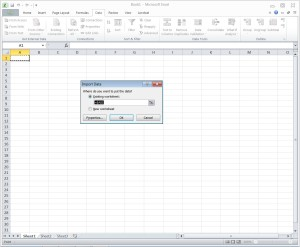 Excel Import Location Selection