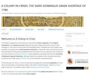 A Colony in Crisis