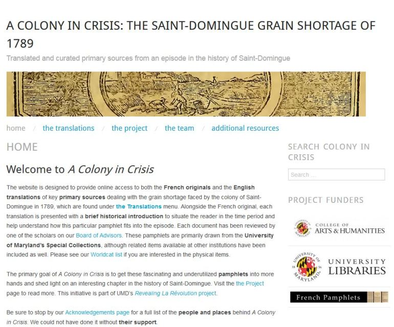 "Debut of ""A Colony in Crisis"""