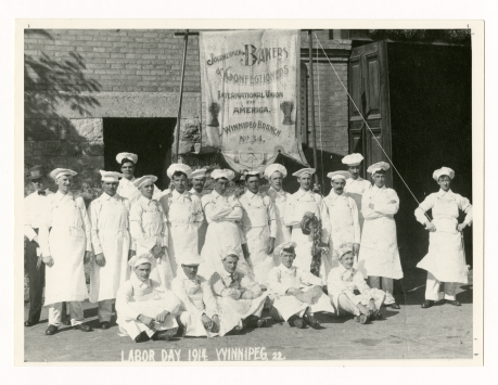 Local 34, Winnipeg, MB, Labor Day, 1914