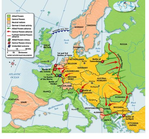 WWI_Map