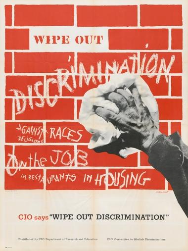 Labor_M2Panel2_CivilRights_WipeOutDiscriminationPoster