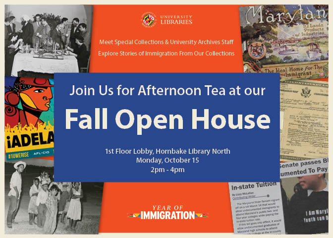 Join us for an afternoon tea at our fall open house on Monday, October 15th from 2-4pm in the first floor lobby of Hornakbe Library North