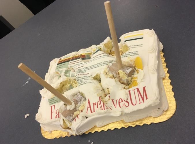 Smashed farwell ArchivesUM cake