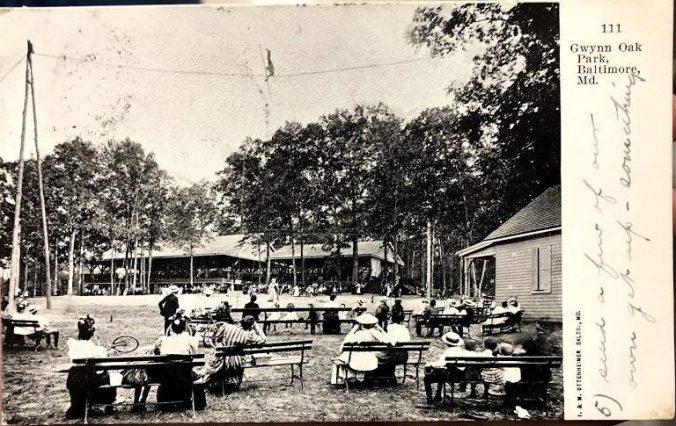 Postcard of Gywnn Oak Park, Baltimore Maryland