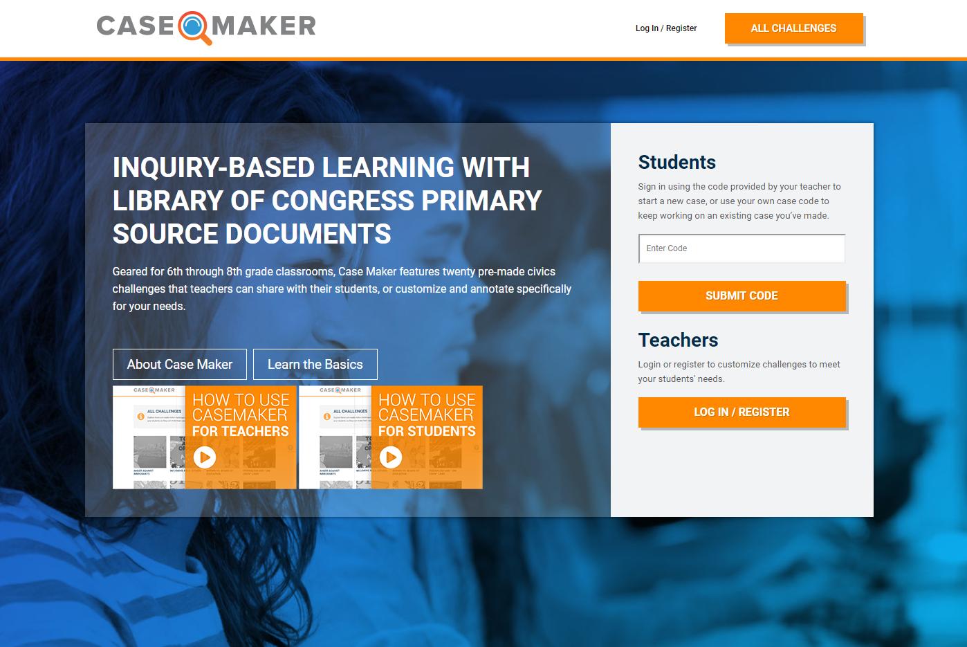 Casemaker website homepage