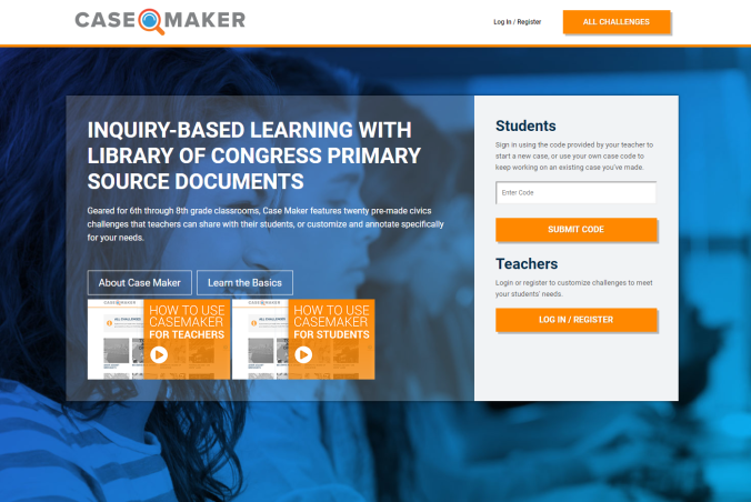 Casemaker website homepage