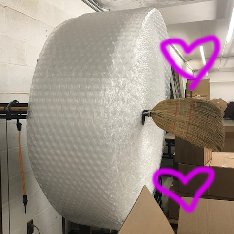 Pillowy soft packing material